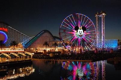 view over Disneyland Anaheim
